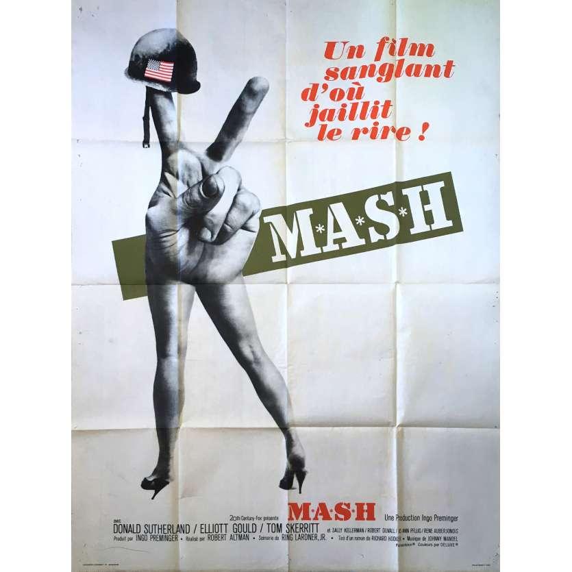 MASH Affiche de film Titre vert - 120x160 cm. - 1972 - Donald Sutherland, Robert Altman