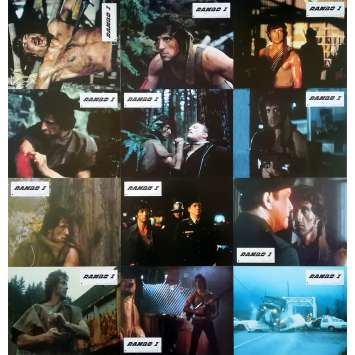 RAMBO - FIRST BLOOD Original Lobby Cards x12 - 9x12 in. - 1982 - Ted Kotcheff, Sylvester Stallone
