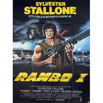 RAMBO Affiche de film - 120x160 cm. - R1989 - Sylvester Stallone, Ted Kotcheff