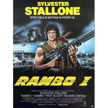 RAMBO Affiche de film - 40x60 cm. - R1989 - Sylvester Stallone, Ted Kotcheff