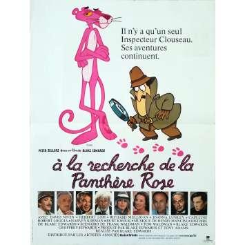 A LA RECHERCHE DE LA PANTHERE ROSE Affiche de film - 40x60 cm. - 1982 - Peter Sellers, Blake Edwards