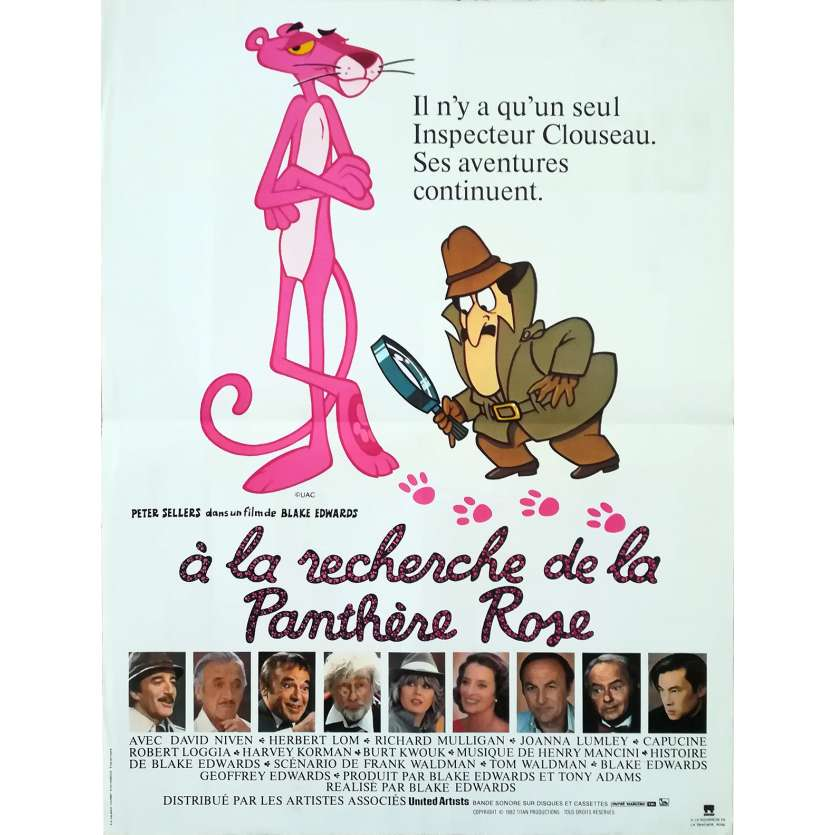 TRAIL OF THE PINK PANTHER Original Movie Poster - 15x21 in. - 1982 - Blake Edwards, Peter Sellers