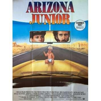 ARIZONA JUNIOR Affiche de film - 120x160 cm. - 1987 - Nicolas Cage, Joel Coen