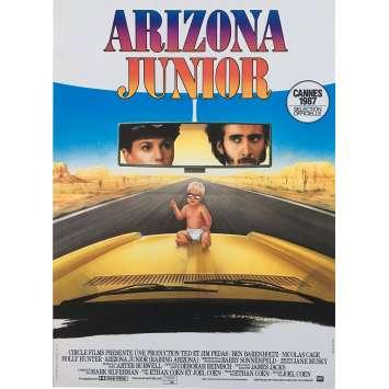 ARIZONA JUNIOR Affiche de film - 40x60 cm. - 1987 - Nicolas Cage, Joel Coen