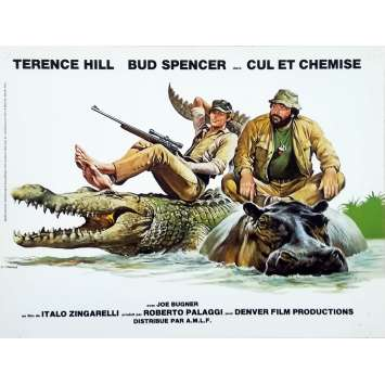 I'M FOR THE HIPPOPOTAMUS Original Herald - 9x12 in. - 1979 - Italo Zingarelli, Terence Hill, Bud Spencer