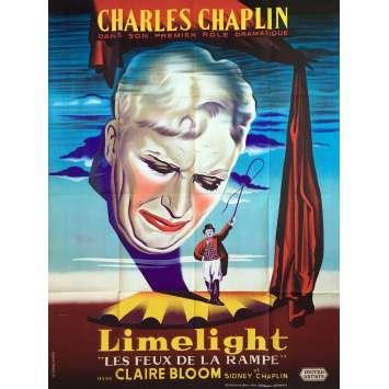 LES FEUX DE LA RAMPE Affiche de film - 120x160 cm. - 1952 - Charlot, Charlie Chaplin