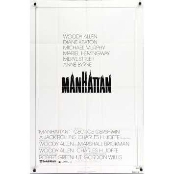 MANHATTAN Original Movie Poster - 27x40 in. - 1979 - Woody Allen, Diane Keaton