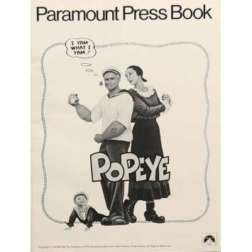 POPEYE Original Pressbook - 9x12 in. - 1980 - Robert Altman, Shelley Duvall