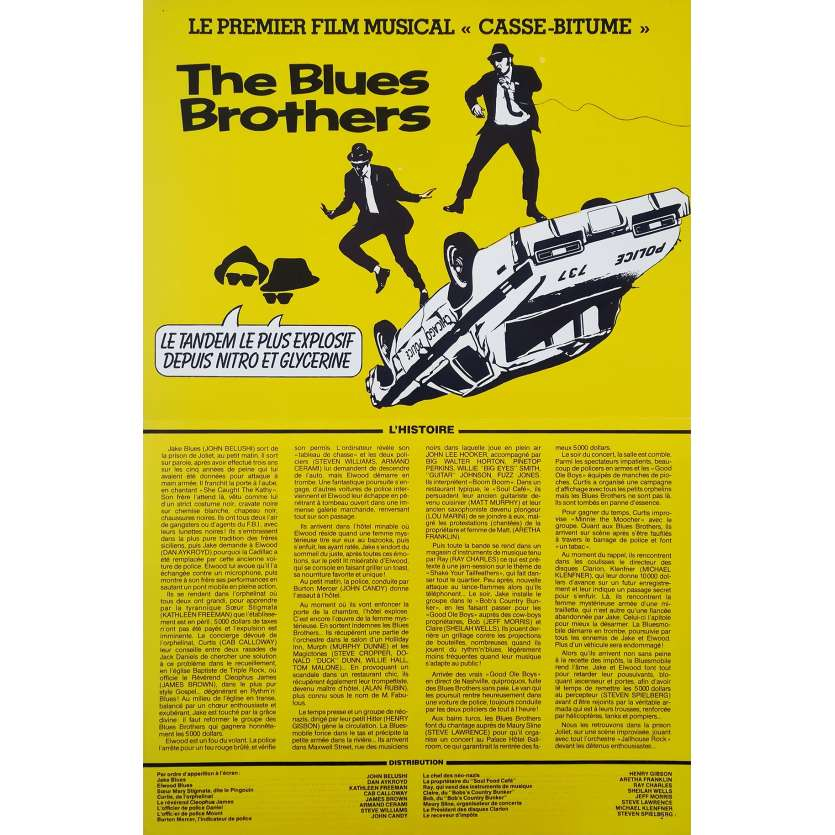 THE BLUES BROTHERS Synopsis - 21x30 cm. - 1981 - John Belushi, John Landis