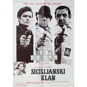 THE SICILIAN CLAN Original Movie Poster - 20x27 in. - 1969 - Henri Verneuil, Lino Ventura
