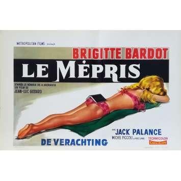 LE MEPRIS Affiche de film - 35x55 cm. - 1963 - Brigitte Bardot, Jean-Luc Godard