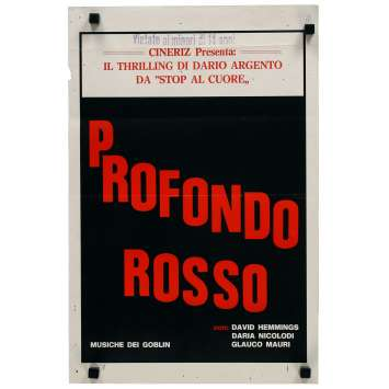 DEEP RED Original Movie Poster - 13x28 in. - 1975 - Dario Argento, David Hemmings