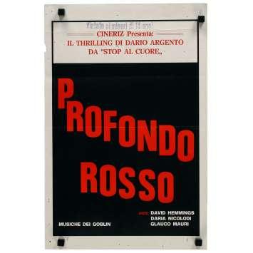 LES FRISSONS DE L'ANGOISSE Affiche de film - 33x50 cm. - 1975 - David Hemmings, Dario Argento