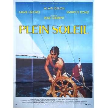 PLEIN SOLEIL Affiche de film - 120x160 cm. - 1960 - Alain Delon, René Clément