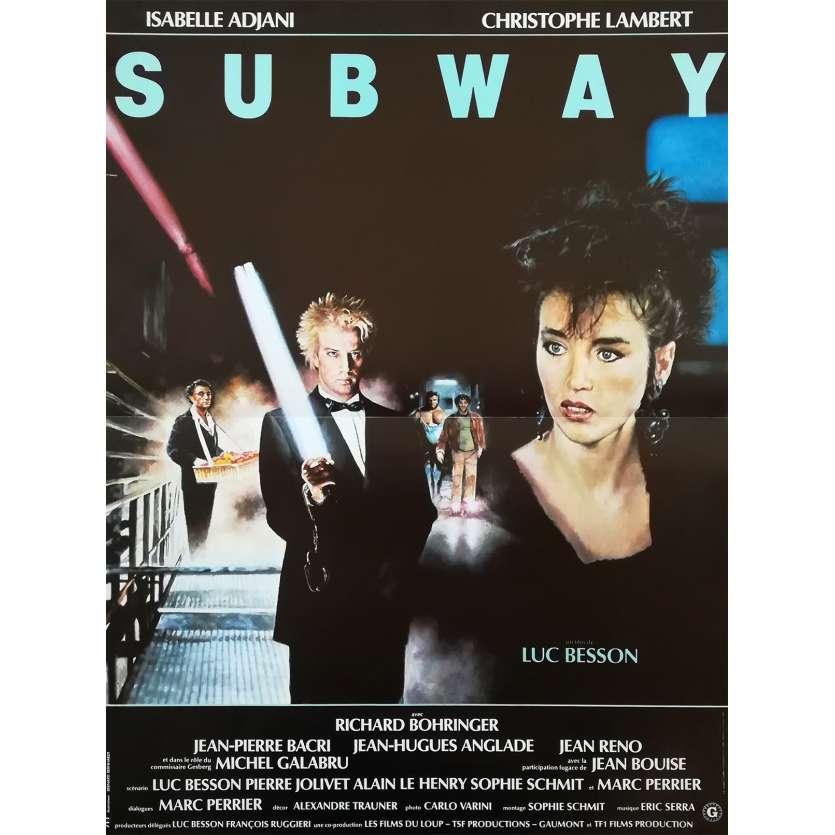 SUBWAY Affiche de film - 40x60 cm. - 1985 - Isabelle Adjani, Luc Besson