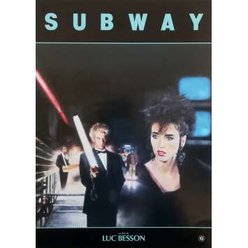 SUBWAY Synopsis - 21x30 cm. - 1985 - Isabelle Adjani, Luc Besson