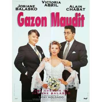 GAZON MAUDIT Affiche de film - 60x80 cm. - 1995 - Victoria Abril, Josiane Balasko