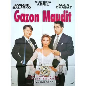 GAZON MAUDIT Affiche de film - 120x160 cm. - 1995 - Victoria Abril, Josiane Balasko