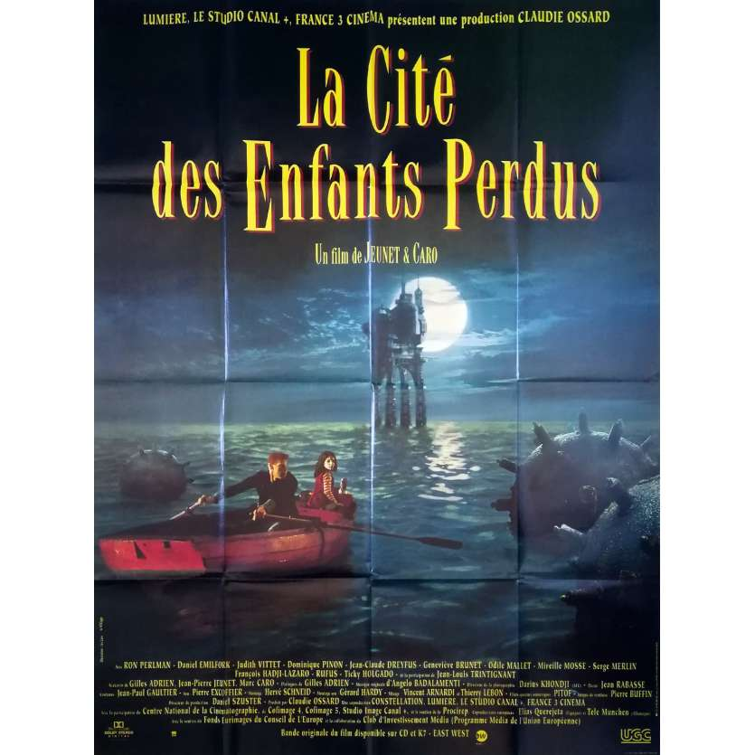 THE CITY OF THE LOST CHILDREN Original Movie Poster - 47x63 in. - 1995 - Jean-Pierre Jeunet, Marc Caro, Ron Perlman