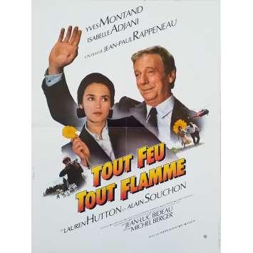 TOUT FEU TOUT FLAMME Affiche de film - 40x60 cm. - 1982 - Yves Montand, Jean-Paul Rappeneau