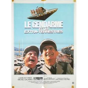 LE GENDARME ET LES EXTRA-TERRESTRES Affiche de film - 60x80 cm. - 1979 - Louis de Funès, Jean Girault