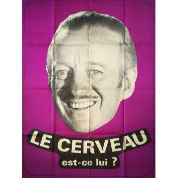LE CERVEAU Affiche de film - 120x160 cm. - 1969 - Jean-Paul Belmondo, Gérard Oury
