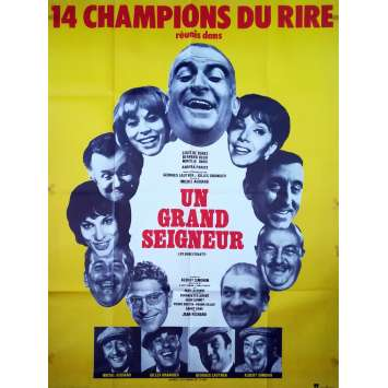HOW TO KEEP THE RED LAMP BURNING Original Movie Poster - 47x63 in. - 1965 - Georges Lautner, Louis de Funès