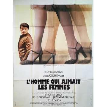 L'HOMME QUI AIMAIT LES FEMMES Affiche de film - 120x160 cm. - 1977 - Charles Denner, François Truffaut