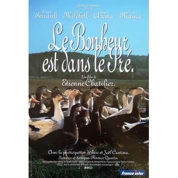 LE BONHEUR EST DANS LE PRE Affiche de film - 40x60 cm. - 1995 - Michel Serrault, Etienne Chatillez