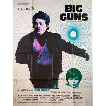 BIG GUNS Original Movie Poster - 47x63 in. - 1973 - Duccio Tessari, Alain Delon
