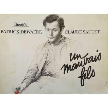 A BAD SON Original Movie Poster - 12x15 in. - 1980 - Claude Sautet, Patrick Dewaere