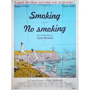 SMOKING NO SMOKING Original Movie Poster - 47x63 in. - 1993 - Alain Resnais, Sabine Azema