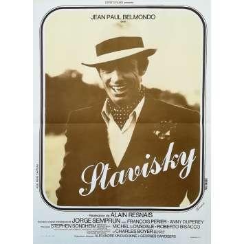 STAVISKY Affiche de film - 40x60 cm. - 1974 - Jean-Paul Belmondo, Alain Resnais