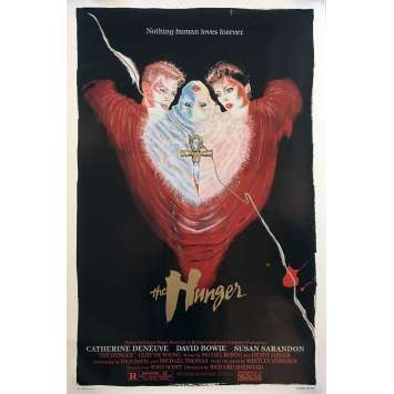 THE HUNGER Original 1sh Movie Poster - 1983 - David Bowie, Tony Scott