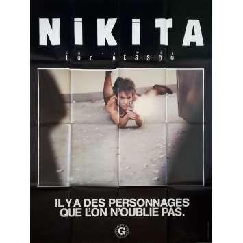 NIKITA Affiche de film Préventive - 120x160 cm. - 1990 - Anne Parillaud, Luc Besson