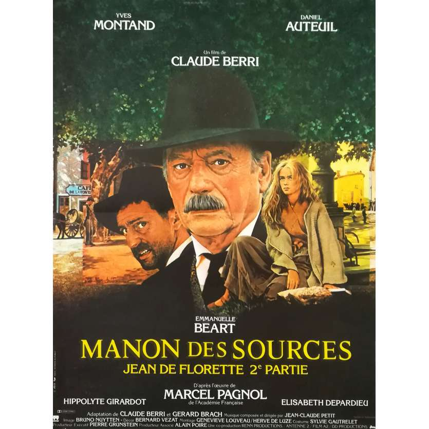 MANON DES SOURCES French Movie Poster 15x21 - 1986 - Claude Berri, Yves Montand