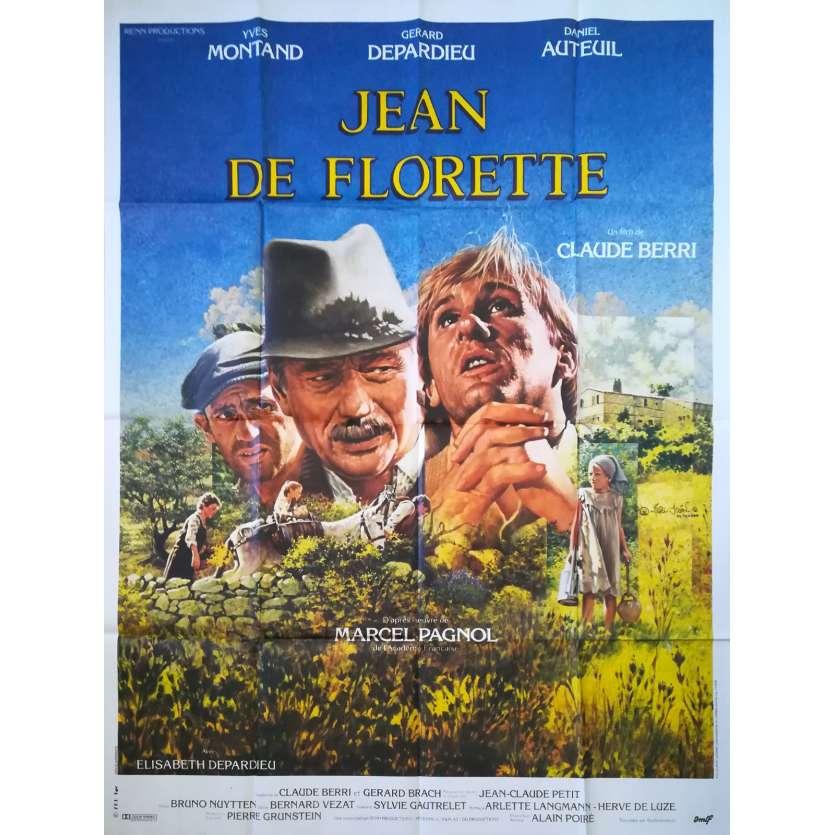 JEAN DE FLORETTE Affiche de film 120x160 - 1986 - Gérard Depardieu, Claude Berri