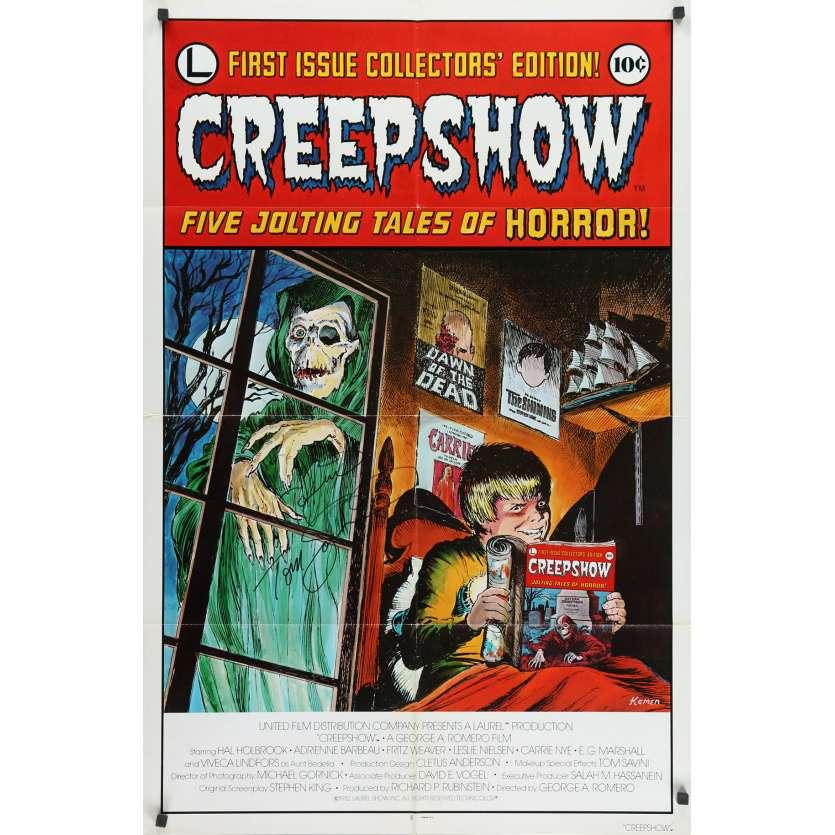 CREEPSHOW Original Signed Poster - 27x41 in. - 1982 - George A. Romero, Leslie Nielsen