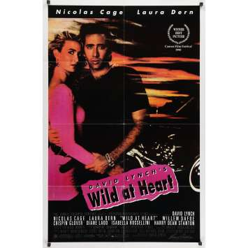 WILD AT HEART Original Movie Poster - 27x41 in. - 1990 - David Lynch, Nicolas Cage