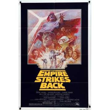 STAR WARS - L'EMPIRE CONTRE ATTAQUE Affiche de film - 69x104 cm. - R1980 - Harrison Ford, George Lucas