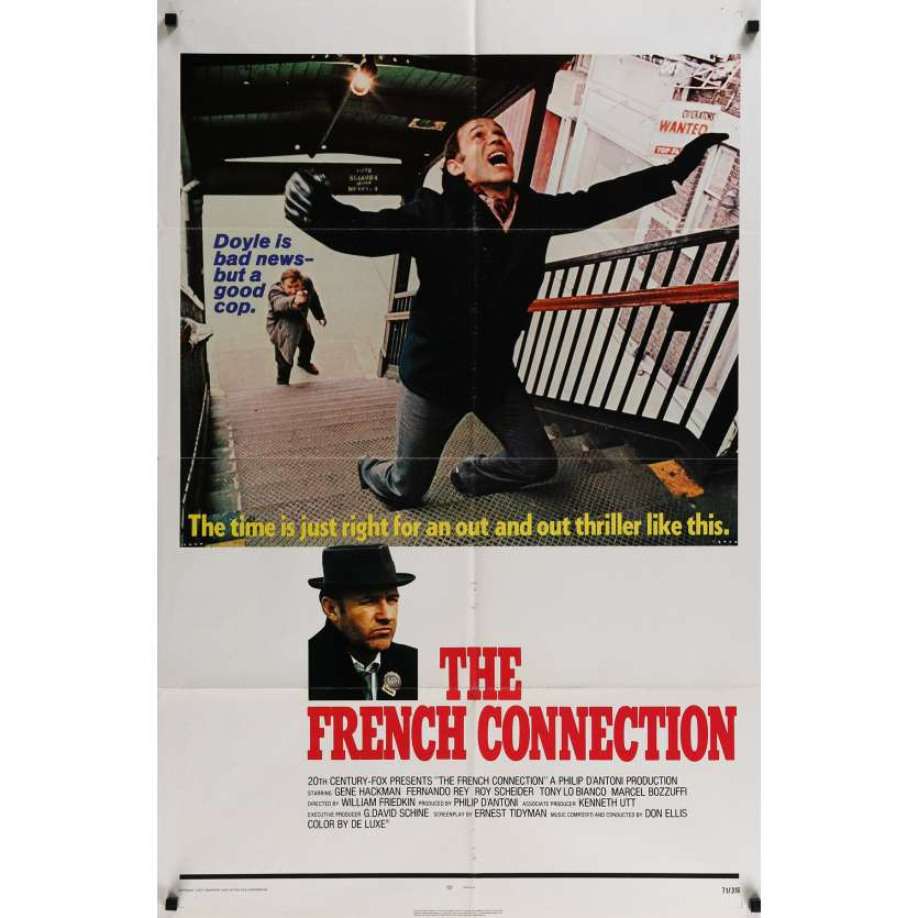 FRENCH CONNECTION Affiche de film - 69x104 cm. - 1971 - Gene Hackman, William Friedkin