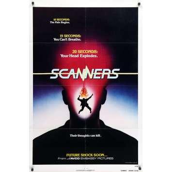 SCANNERS Affiche de film - 69x104 cm. - 1981 - Patrick McGoohan, David Cronenberg