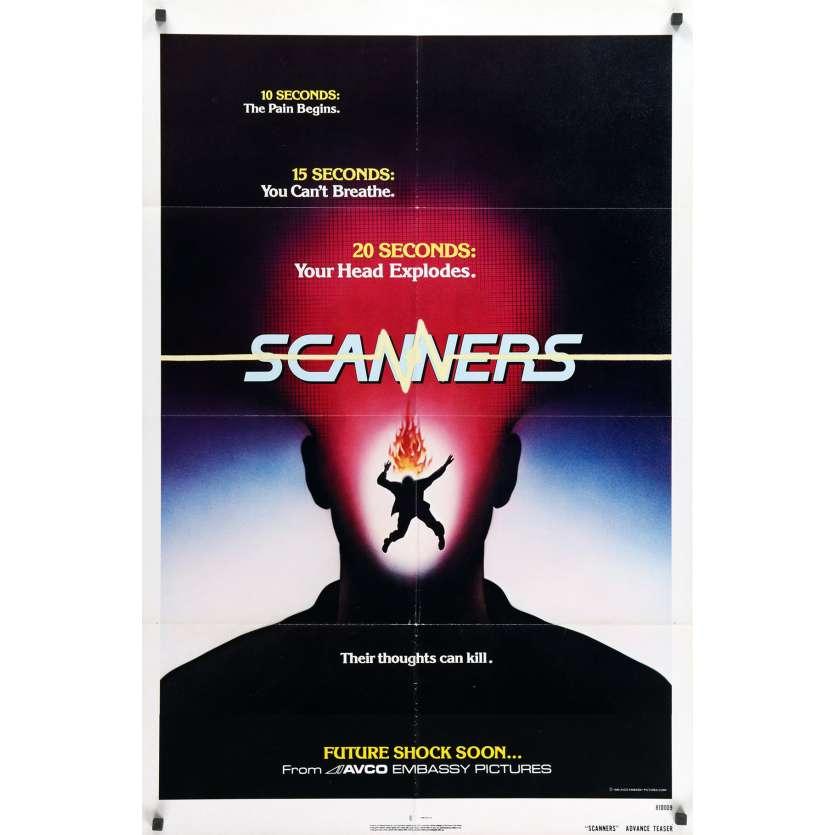 SCANNERS Original Movie Poster - 27x41 in. - 1981 - David Cronenberg, Patrick McGoohan