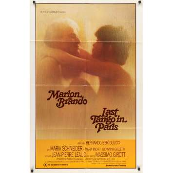 LAST TANGO IN PARIS Original Movie Poster - 27x41 in. - 1972 - Bernardo Bertolucci, Marlon Brando