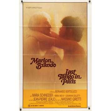LE DERNIER TANGO A PARIS Affiche de film - 69x104 cm. - 1972 - Marlon Brando, Bernardo Bertolucci