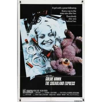 SUGARLAND EXPRESS Affiche de film - 69x104 cm. - 1974 - Goldie Hawn, Steven Spielberg