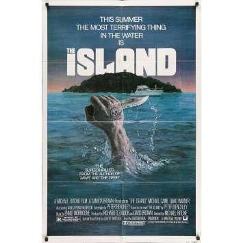 L'ILE SANGLANTE Affiche de film - 69x104 cm. - 1980 - Michael Caine, Michael Ritchie