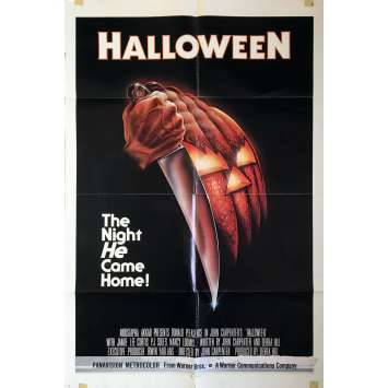 HALLOWEEN Affiche de cinéma Américaine Originale - 1979 - John Carpenter 1sh