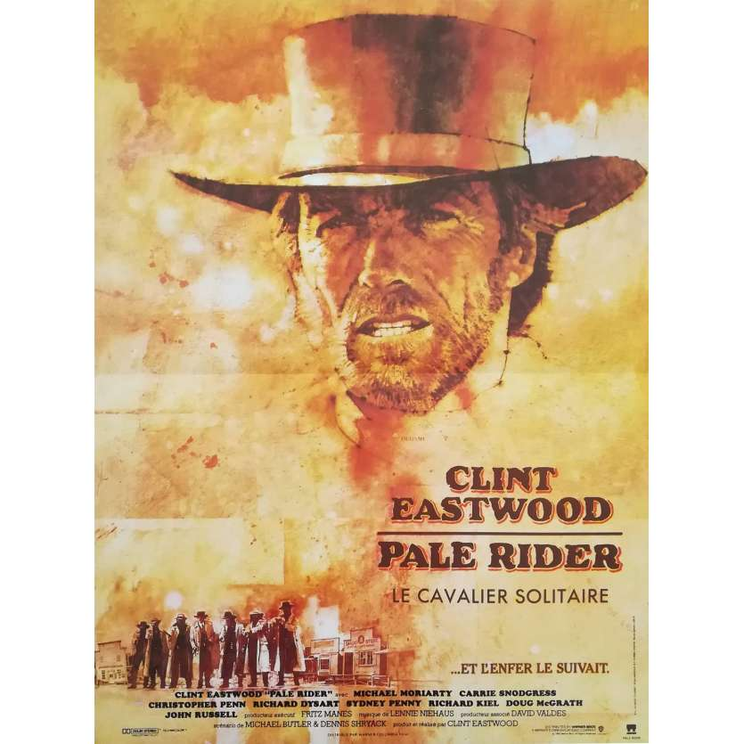 PALE RIDER French Movie Poster 15x21 - 1984 - Clint Eastwood, Chris Penn
