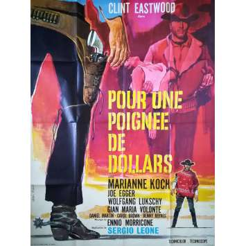 FISTFUL OF DOLLARS French Movie Poster 47x63 R70, Sergio Leone Clint Eastwood western spaghetti